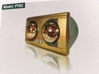 Đèn sưởi nhà tắm Protex PT02 - 2 bóng