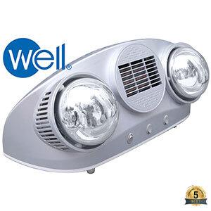 Đèn sưởi nhà tắm Well BS-2PW