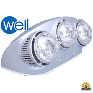 Đèn sưởi nhà tắm Well BS-3W