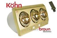 Đèn sưởi phòng tắm Braun Kohn KP03G-Plus - Điều khiển từ xa