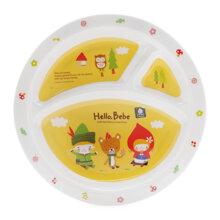 Đĩa tròn nhựa melamine có ngăn cho trẻ em Hello Bebe Lock&Lock LBB461