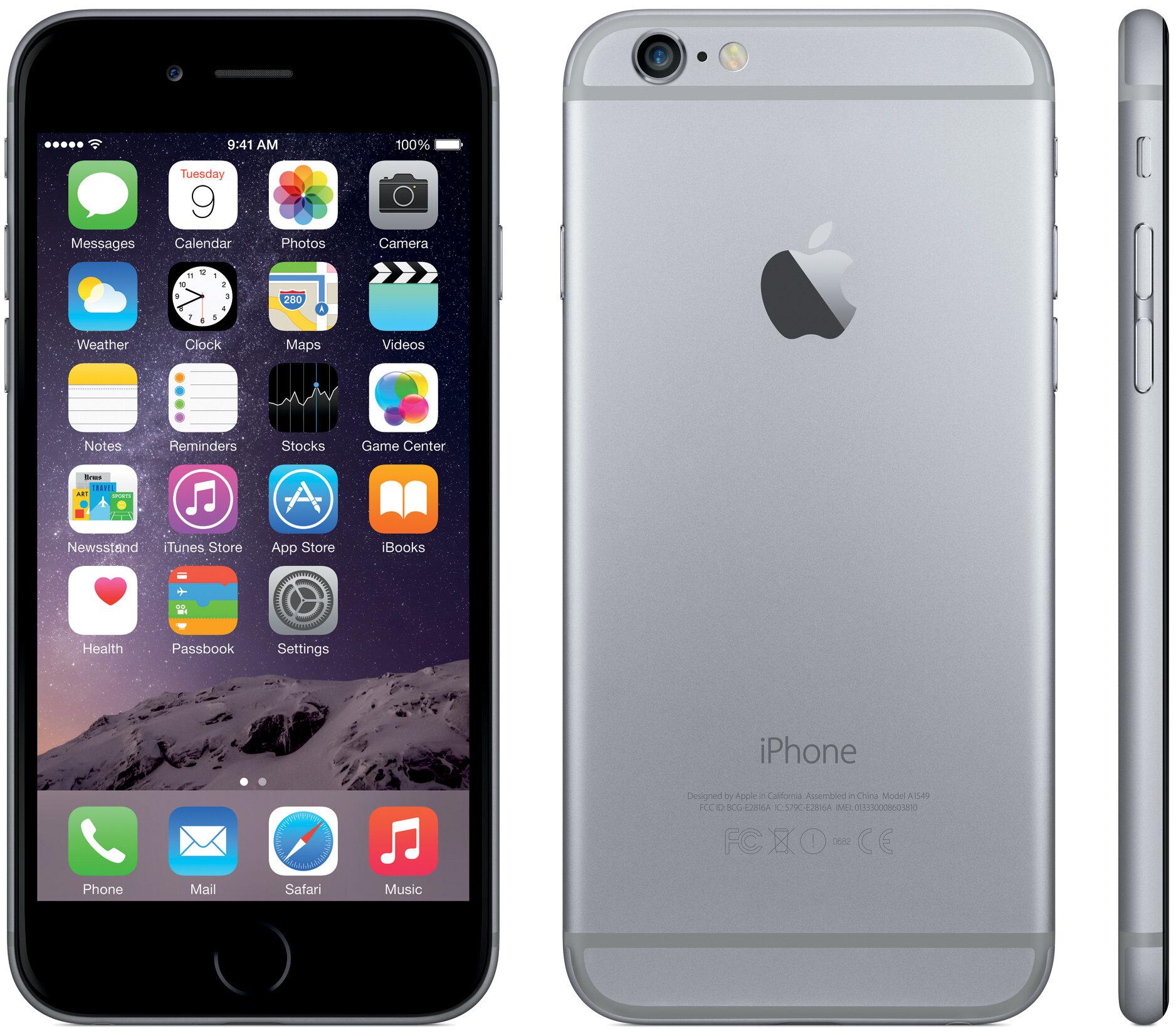 Điện thoại Apple iPhone 6 Plus - 16GB, màu đen