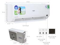 Điều hòa - Máy lạnh Aqua AQA-KRV9WGS- 1 chiều, 9000BTU, inverter