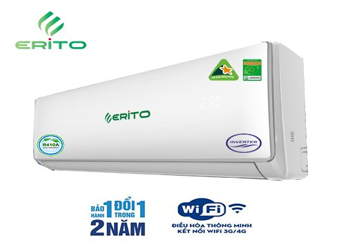 Điều hòa - Máy lạnh Erito ETI-V10HS1/ETO-V10HS1 - inverter, wifi, 2 chiều, 9000Btu