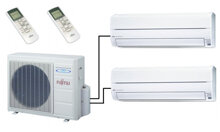 Điều hòa - Máy lạnh Fujitsu Multi AOAG24LAT3 - 24.000BTU, 2 chiều