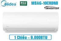 Điều hòa Midea 9000 BTU 1 chiều MSAFG-10CRN8 gas R-32