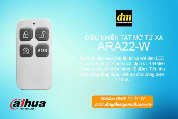 Điều khiển tắt mở từ xa Dahua ARA22-W