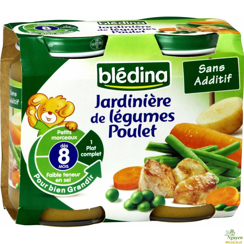 Dinh dưỡng đóng lọ Bledina thịt gà, rau củ