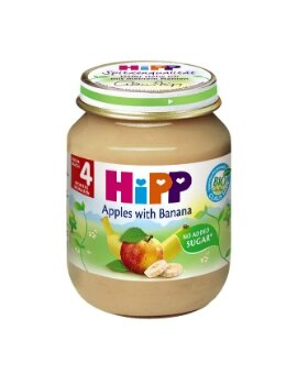 Dinh dưỡng đóng lọ HiPP chuối táo 125g