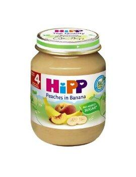 Dinh dưỡng đóng lọ HiPP đào chuối 125g