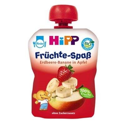 Dinh dưỡng đóng túi dâu chuối táo HiPP 8521 - 90g