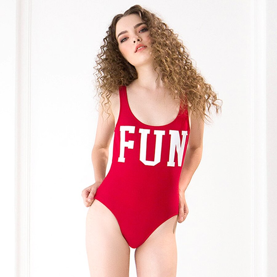 Đồ bơi Red printed swimsuit Candeblanc H17F8002