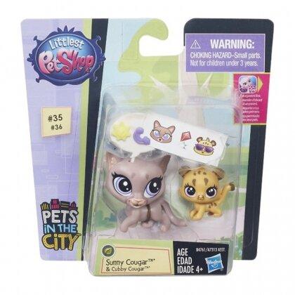 Đồ chơi anh em báo sư tử Sunny Và Cubby Littlest Pet Shop
