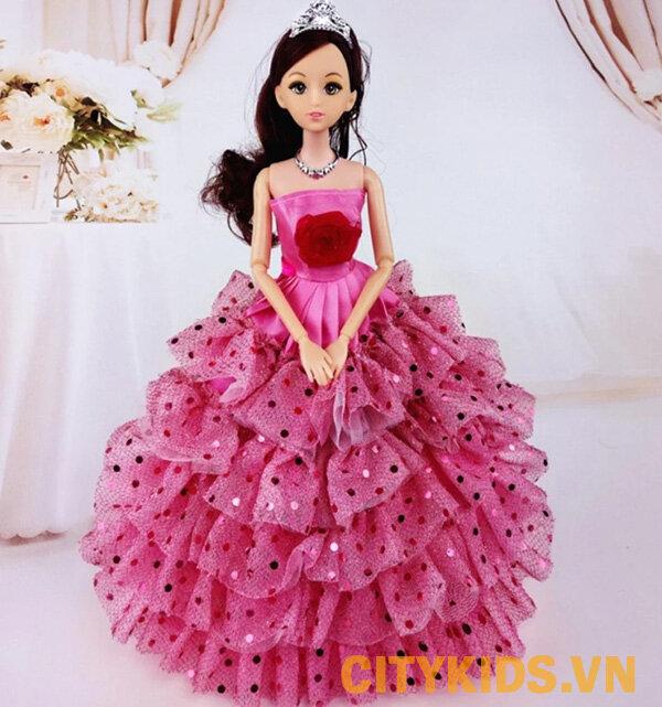 Đồ chơi búp bê 12 khớp công chúa hồng