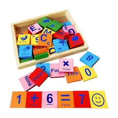 Đồ chơi gỗ Bộ chữ và số tiếng Anh Edugames GA672