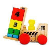 Đồ chơi gỗ xe nâng học toán Edugame GA646