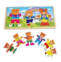 Đồ chơi gỗ xếp hình gia đình gấu WS0072