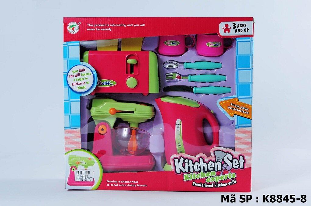 Đồ chơi làm bếp máy xay + lò nướng bánh mì + ấm đun nước K8845-8