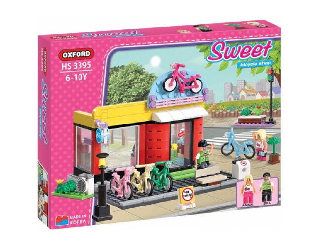 Đồ chơi lắp ghép tiệm xe đạp Sweet series (Bicycle shop) Oxford HS3395