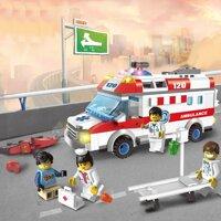 Đồ chơi lắp ghép xếp hình lego xe cứu thương Enlighten 1118