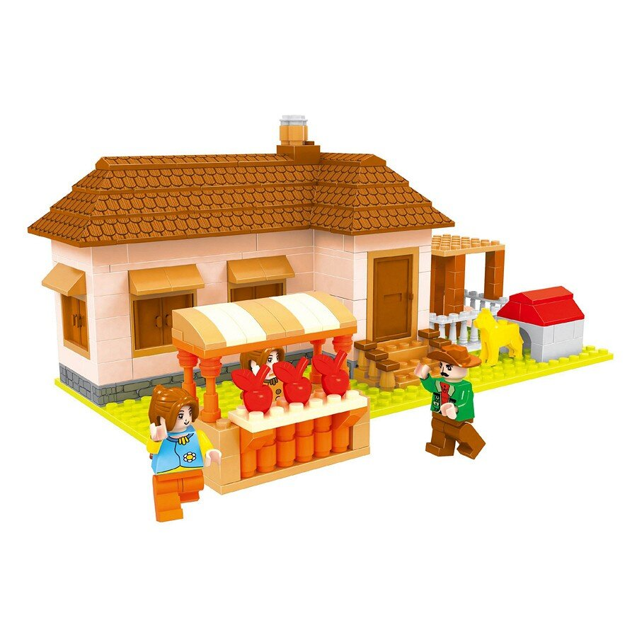 Đồ chơi lắp ráp Ausini - nông trại vui vẻ - nông trại táo 28603 (293 mảnh ghép)