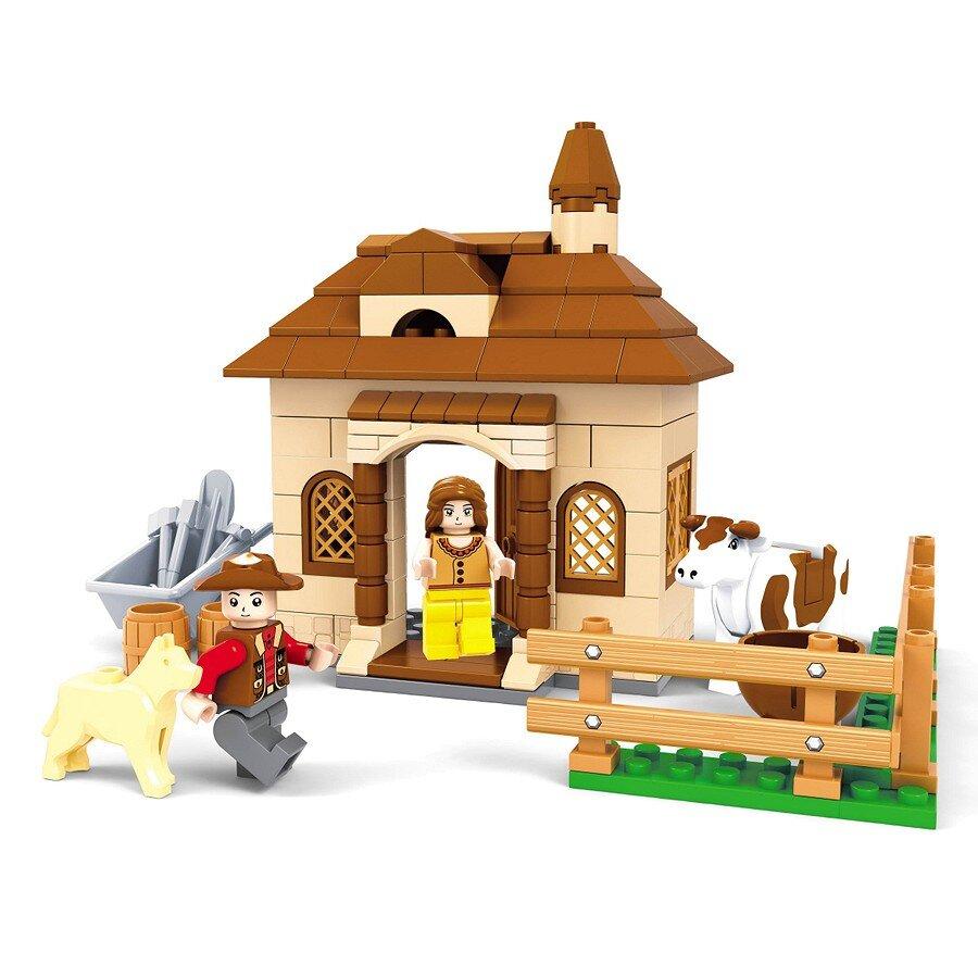 Đồ chơi lắp ráp Ausini - Nông trại vui vẻ - Nhà trang trại 28405 (168 mảnh ghép)