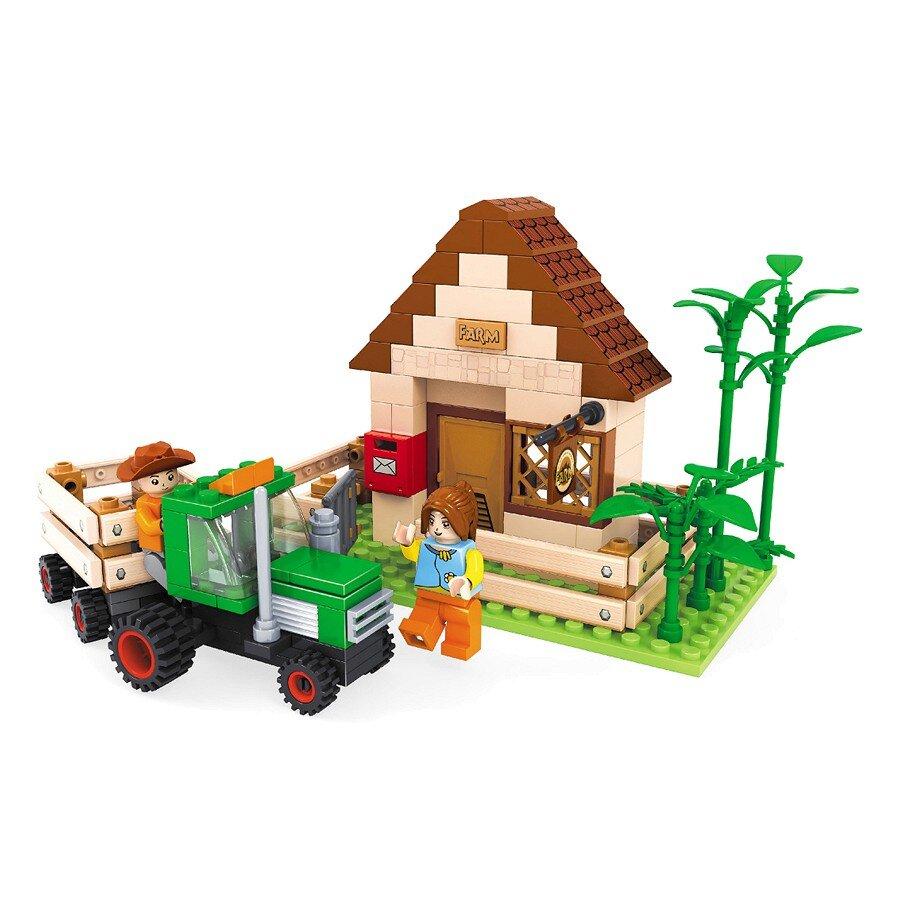 Đồ chơi lắp ráp Ausini - nông trại vui vẻ - nhà trang trại 28502 (210 mảnh ghép)