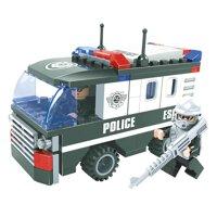 Đồ chơi lắp ráp Ausini - Sở cảnh sát - Xe hơi cảnh sát 23404 (127 mảnh ghép)