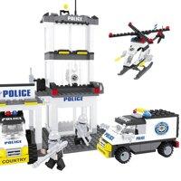 Đồ chơi lắp ráp Ausini - sở cảnh sát - trạm cảnh sát 23801 (474 mảnh ghép)