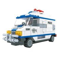 Đồ chơi lắp ráp Ausini - sở cảnh sát - xe hơi cảnh sát 23405 (194 mảnh ghép)