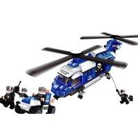 Đồ chơi lắp ráp Ausini - sở cảnh sát - trực thăng cảnh sát 23604 (599 mảnh ghép)