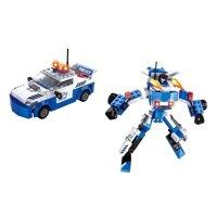 Đồ chơi lắp ráp Robot biến hình xe cảnh sát Ausini AUS 25419