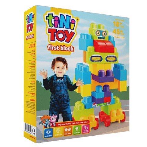 Đồ chơi lắp ráp Tinitoy First Block Rô Bốt 313T-32A