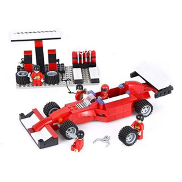 Đồ chơi lắp ráp trạm bảo trì xe đua F1 Cogo 3401