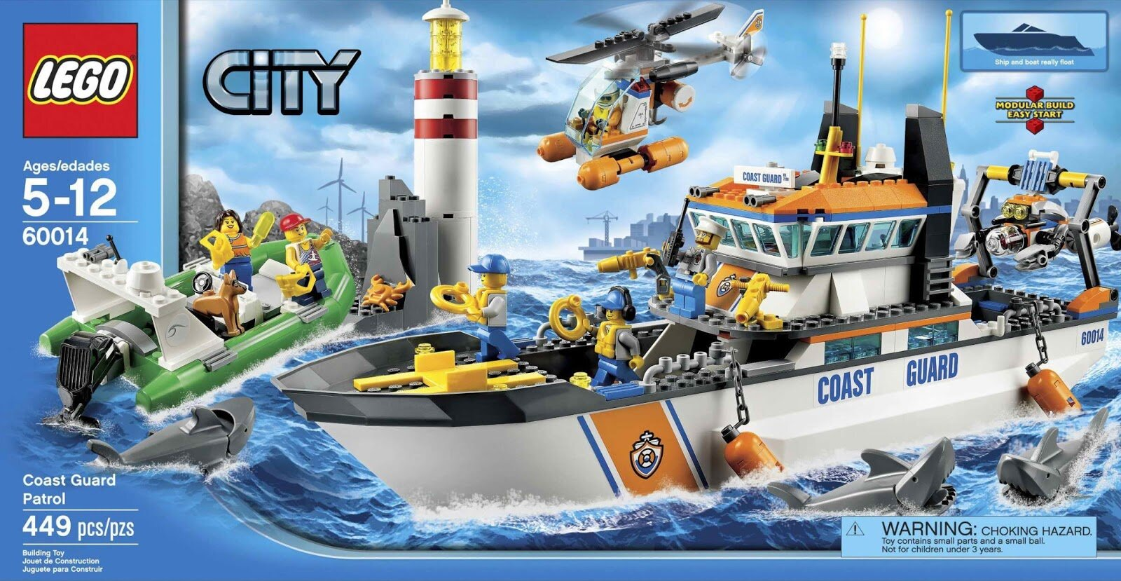 Đồ chơi LEGO CITY 60014 Xếp hình Tàu Cứu Hộ