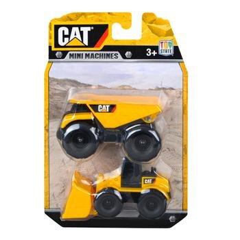 Đồ chơi mô hình CAT - Xe ben và xe xúc 4 bánh mini-CAT34635DW