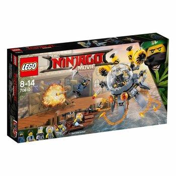 Đồ chơi tàu ngầm sứa tấn công Lego Ninjago 70610 (341 chi tiết)