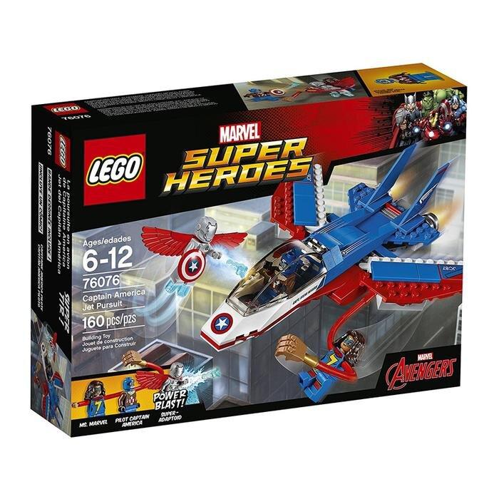 Đồ chơi truy kích bằng máy bay phản lực Lego Super Heroes 76076 (160 chi tiết)