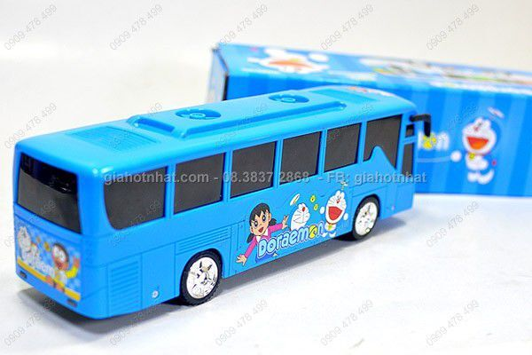 Đồ chơi xe bus doremon có âm thanh và đèn 3d