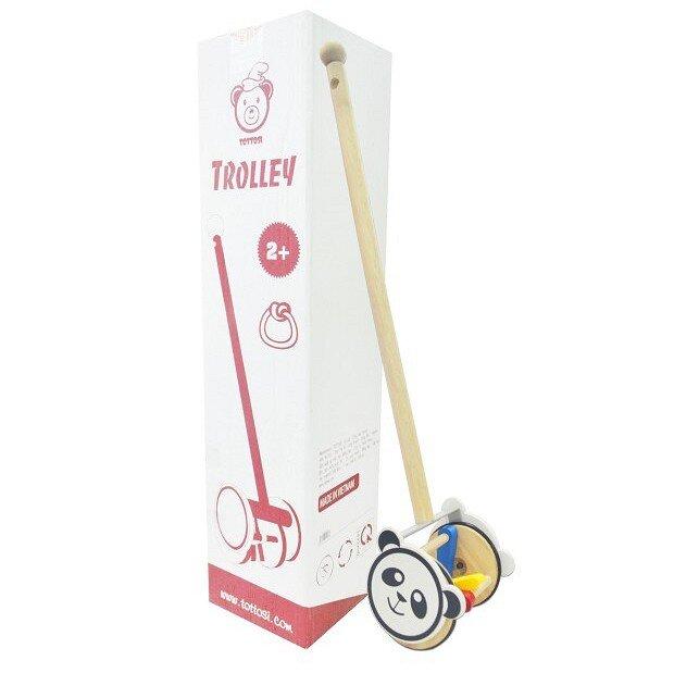 Đồ chơi xe đẩy gỗ Tottosi Lục Lạc Panda 103002
