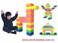 Đồ chơi xếp hình khối cho bé Happy Building Block LA542