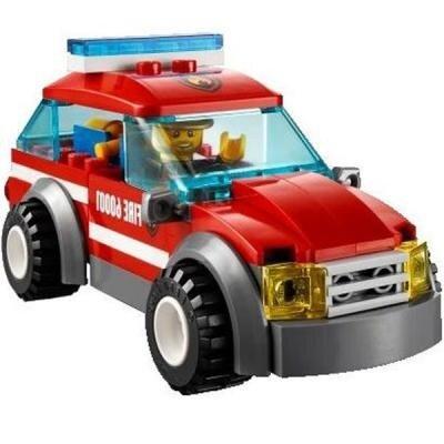 Đồ chơi Xếp hình xe hơi đội trưởng cứu hỏa Lego Brand 60001