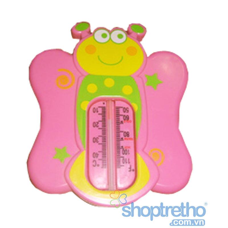 Đo nhiệt độ nước tắm Thái Lan