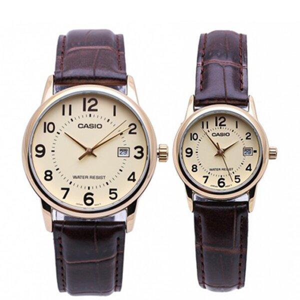 Đồng hồ cặp đôi Casio MLP-V002GL-9BUDF