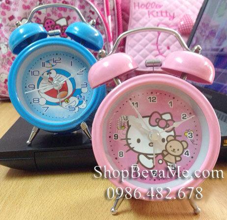 Đồng hồ chuông báo thức hình Doremon/ Hello Kitty