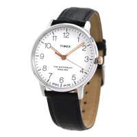 Đồng hồ dây da nam Timex màu đen TW2R71300