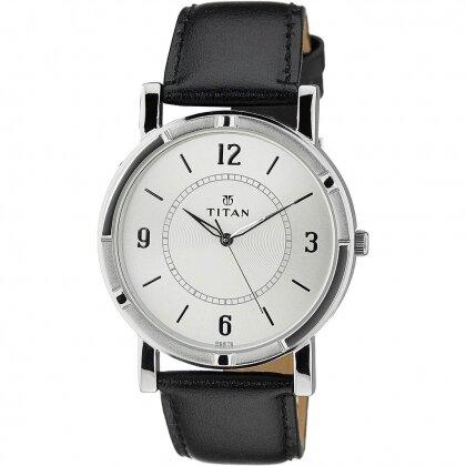 Đồng hồ dây da nam Titan 1639SL03