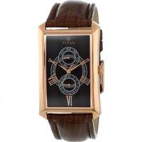 Đồng hồ dây da nam Titan 1490WL01