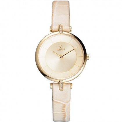 Đồng hồ đeo tay nữ dây da Obaku V168LEGGRX