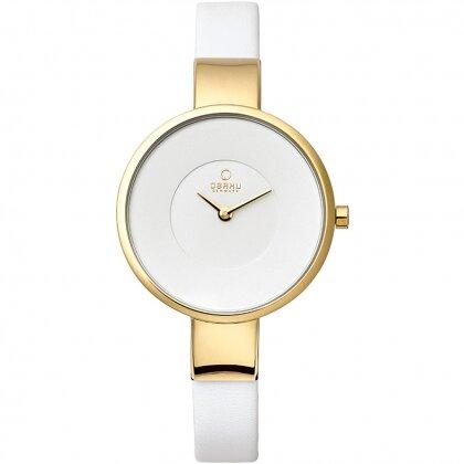 Đồng hồ đeo tay nữ dây da Obaku V149LXGIRW